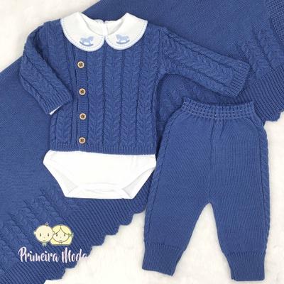 Saída De Maternidade João Azul Jeans - 1443 - Primeira Moda