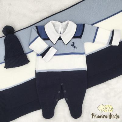 Saída De Maternidade Cavalinho Azul - 1352 - Primeira Moda