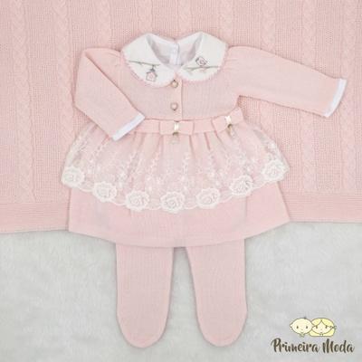 Saída De Maternidade Raika Rosa Bebê - 1171 - Primeira Moda