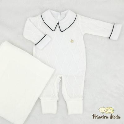 Saída De Maternidade Luan Branco - 1467 - Primeira Moda