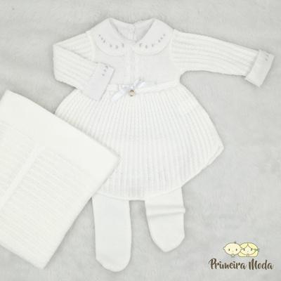 Saída De Maternidade Liz Branca - 1469 - Primeira Moda