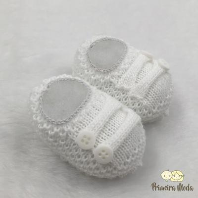 Sapatinho De Tricot Octavio Branco - 1185 - Primeira Moda