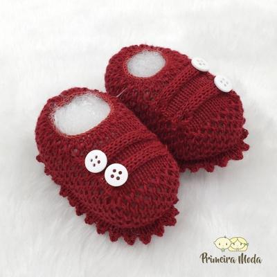 Sapatinho De Tricot Octavio Vermelho Escuro - 1405 - Primeira Moda