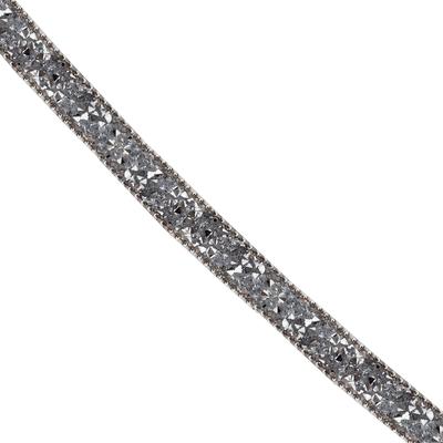 Cordão Infinity Mini Rivoli Com Corrente de Bolinha - Níquel