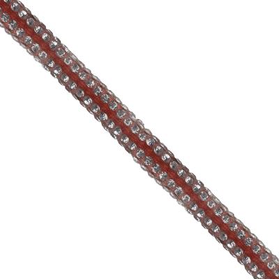 Cordão Spring 0,5cm Pedra Níquel - Laranja