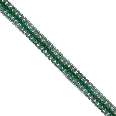 Cordão Spring 0,5cm Pedra Níquel - Verde