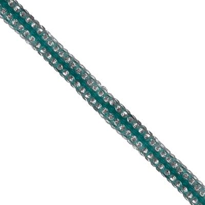 Cordão Spring 0,5cm Pedra Níquel - Azul