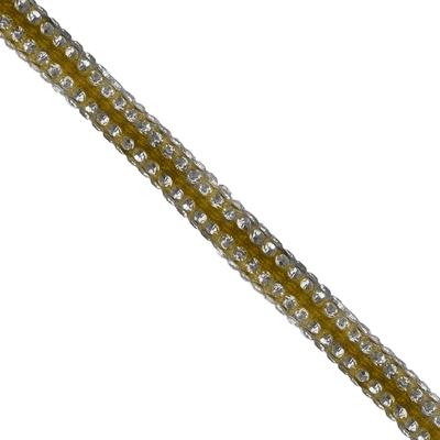 Cordão Spring 0,5cm Pedra Níquel - Amarelo