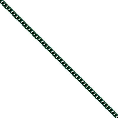 Corrente De Elo 7mm Alumínio - Banho Verde Oliva