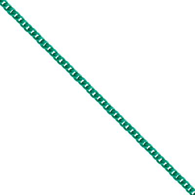 Corrente De Elo 7mm Alumínio - Banho Verde Água