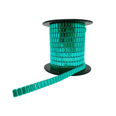 Corrente Flat Metal 10x4mm - Banho Verde Light