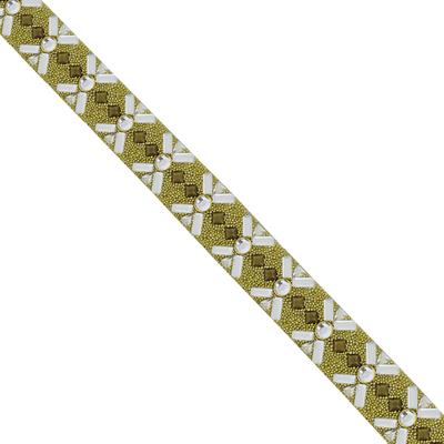 Tira De Strass Blend Cristal - 2cm