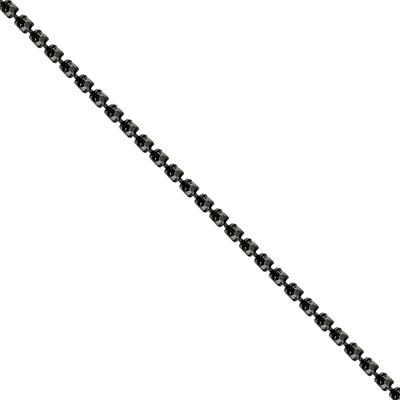 Corrente Ss8,5 / PL18 - Pedra Hematite - Banho Grafite