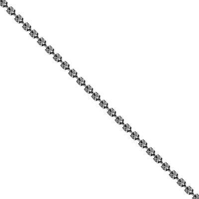 Corrente Ss8,5 / PL18 - Pedra Cristal - Banho Grafite.
