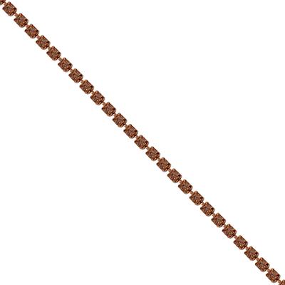 Corrente Ss8,5 / PL18 - Pedra Vintage Rose Light Banho Cobre