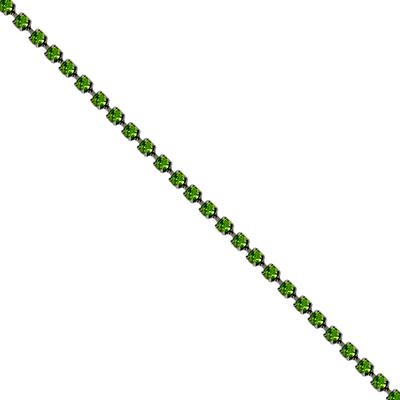 Corrente Ss8,5 / Pl18 - Pedra Peridot verde - Banho Níquel