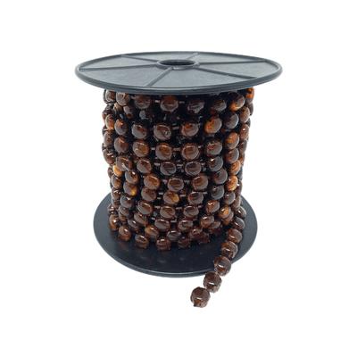 Corrente de Strass Natura 10x10mm - Brown, Banho Toffe