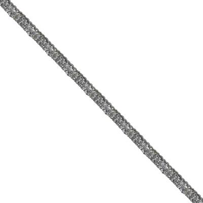 Cordão Infinity - Cristal, Base Silicone.