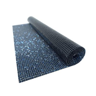 Manta De Strass Infinity - Hematite Blue.