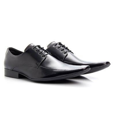 1a4b06db7eac1 Sapato social masculino preto de amarrar solado de.