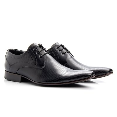 f94903975 Sapato social de amarrar bico fino solado de couro