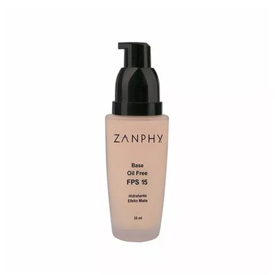 Base Líquida Zanphy 01 Rose - FPS 15- Efeito Matte 35ml