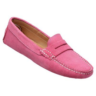 fbe2b56999 Mocassim Feminino Drive Camurça Pink GT003
