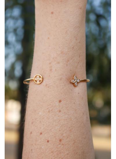Bracelete No Banho de Ouro 18K - BRA2098B - Dillu Jóias