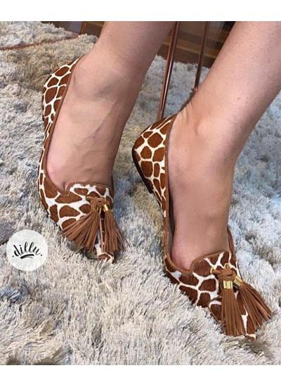 Sapatilha Girafa Luiza Barcelos Salerno Caramelo ... - Dillu Jóias