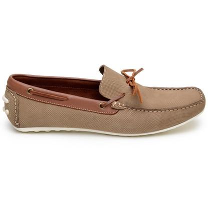 Sapato Casual Masculino Mocassim CNS 20086 Areia - CNS