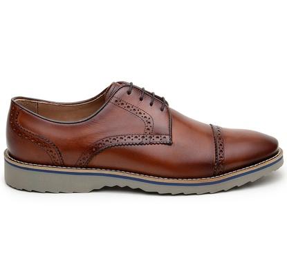 Sapato Casual Masculino Derby CNS Brogue 50610 Caf... - CNS
