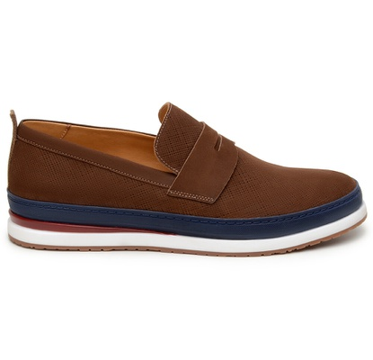 Sapato Casual Masculino Loafer CNS Every 13 Castan... - CNS