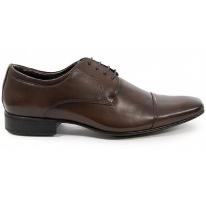 Sapato Social Masculino Derby CNS 40085 Dark Brown - CNS