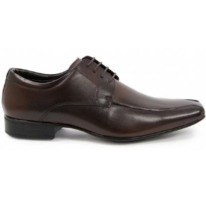Sapato Social Masculino Derby CNS 40062 Dark Brown - CNS