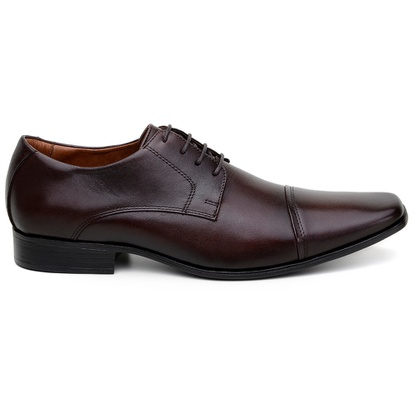 Sapato Social Masculino Derby CNS 6425 Marrom - CNS