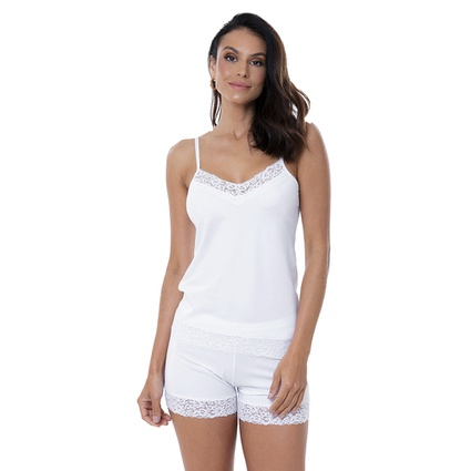 Pijama Baby Doll Homewear Branco - TRITUÊ