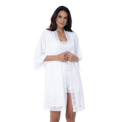 Hobby Homewear branco com renda - TRITUÊ