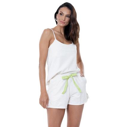 Pijama Homewear Off White linho com algodão - TRITUÊ