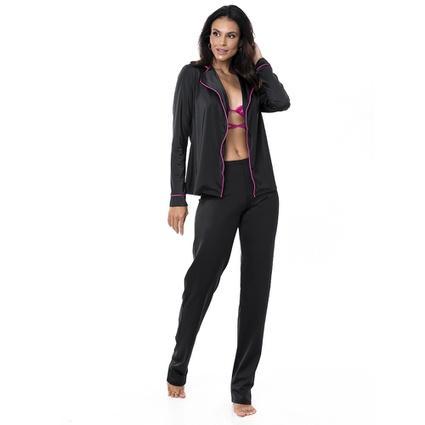 Pijama Homewear Colors Calça e Camisa Preto/Pink - TRITUÊ