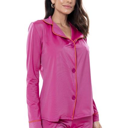 Pijama Homewear Colors Calça e Camisa Pink/Laranja - TRITUÊ