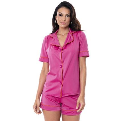 Pijama Homewear Colors Short e Camisa Pink/Laranja - TRITUÊ