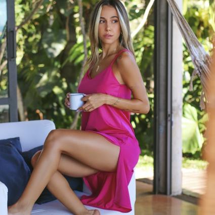 Sleep Dress Homewear Rosa Pink - TRITUÊ