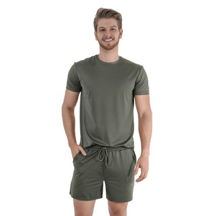 Pijama Homewear H.A. curto militar gola redonda - TRITUÊ
