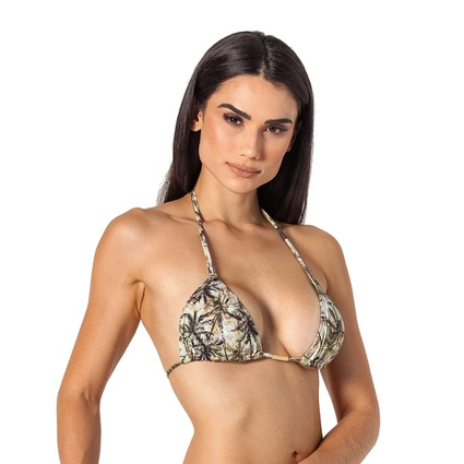 Top Cortininha Coqueiro Nude - TRITUÊ