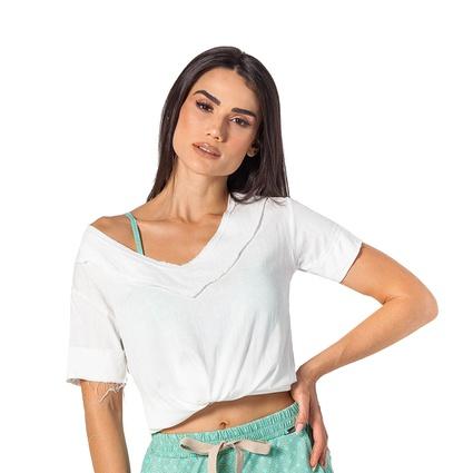 T-shirt linho Off White - TRITUÊ