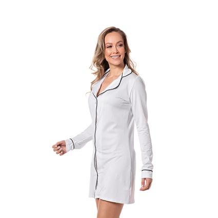 Chemise Homewear c/ botões Branca - TRITUÊ