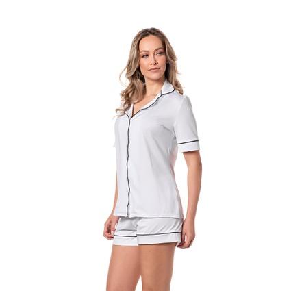 Pijama Homewear Short e Camisa Branco - TRITUÊ