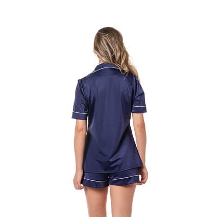 Pijama Homewear Short e Camisa Marinho - TRITUÊ