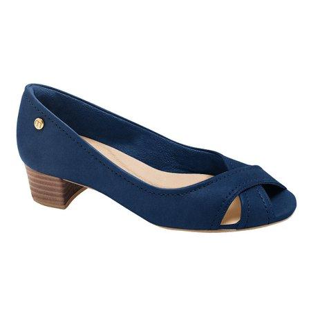 Peep Toe Confortável - Azul