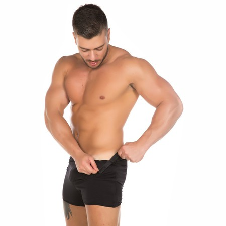 Cueca Striper (PS1119) - Preto